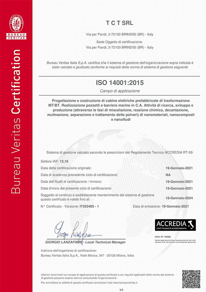 QUALITA' ISO 14001